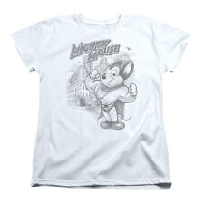 Mighty Mouse  Protect And Serve Girls Jr White Rockabilia
