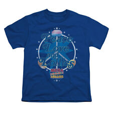 Smarties Men's  Peace Lollies Youth T-shirt Blue Rockabilia