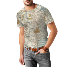 Antique United States Map Mens Sport Mesh T-Shirt XS-3XL All-Over-Print Gym