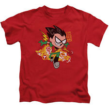 Teen Titans Go Boys' Robin Childrens T-shirt Red Rockabilia