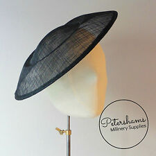Extra Large Round Saucer / Plate Sinamay Fascinator Hat Base for Millinery