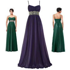 KK Chiffon Maxi Gown Evening Prom Party Dress Banquet Grad Bridesmaids Wedding