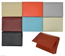New Genuine Premium Leather Expandable Credit/Business Card Holder ID Wallet