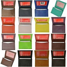 New Genuine Leather Expandable Credit Card ID Business Card Holder Wallet