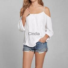 Sexy Women Casual Boho Lace Off Shoulder Shirt Summer Crop Tank Tops Blouse