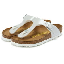Birkenstock BF Gizeh $149rrp Patent Pearly White BNIB
