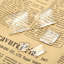 12mm-30mm Clear Square Dome Glass Flatback Cabochon Magnify Base Cover Pendant