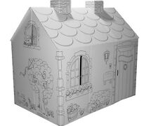 Color Your Own Cardboard Playhouse - Cottage, Hide & Seek, Pirate Ship, Castle