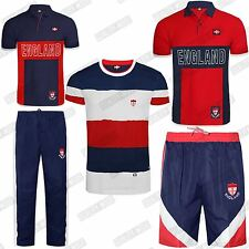 MENS ENGLAND SHORTS TROUSERS TSHIRTS TOPS SPORTS ACTIVE ELASTICATED PANTS S-XXL