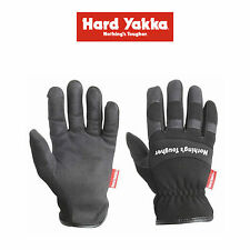 Mens Hard Yakka Gloves Armorskin Rigger Synthetic Leather Tough Work Y26079