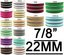"""Cute 7/8"""" Inch (22mm) Solid Color Grosgrain Ribbon Tape Gift Wrapping"""