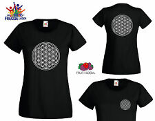 """Flower OF life - FRUIT OF THE LOOM T-Shirt """"Lady Fit Valueweight T """"Flexdruck"""