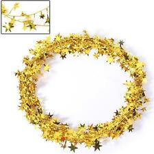 Classic Star Wire Foil Tinsel Garland Pretty Christmas Party Decor 6 Color Pick