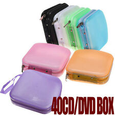 Portable 40 Disc CD DVD Storage Zipper Bag Case Hard Box Wallet Album Holder pop