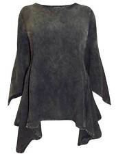 New Eaonplus plus size 18/20 22/24 26/28 30/32 Acid wash black blouse top tunic