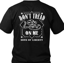 Don't Tread on Me. Snake. Sons of Liberty. T-Shirt.  Made in USA.