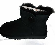 UGG AUSTRALIA WOMENS Mini Bailey button  BOOTS  black  STYLE 3352