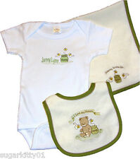 Personalized Baby Girl Onez Bib & Burp I Love Mommy-Honey Pot Design Free Ship