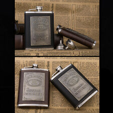 8oz Stainless Steel Whiskey Hip Flask Shot Wine Alkohol Flask Gift Free Funnel