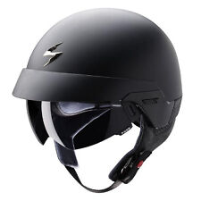 Scorpion EXO 100 Matt Black Motorbike Motorcycle Open Face Helmet Sun Visor