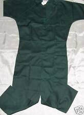 Flightsuit Coveralls Green Short Sleeves Velcro SIZE LARGE
