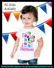 Baby Minnie Mouse 1st First Birthday Girl Custom Personalized Birthday T Shirt