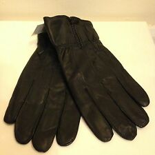 Mens Genuine Leather Gloves Winter Insulated Zipper or Button Sizes: S, M, L, XL