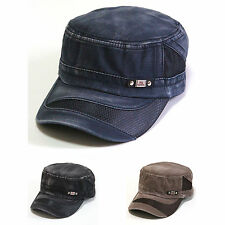 NWT Vintage Washed Military Army Cadet Hat Summer Cool Mesh Cotton Ball Cap