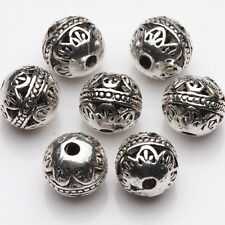 10/20Pcs Tibetan Silver Plated Round Loose Spacer Beads Jewelry DIY Findings 8mm