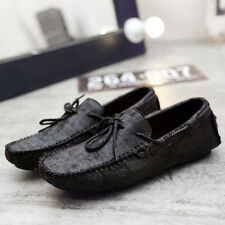 Men's Printed Leather Slip On Loafer Driving Moccasin Loafer Casual Shoes Z104