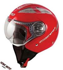 Jet Open Face Motorcycle Motorbike Scooter Crash Helmet Vented Viper Red
