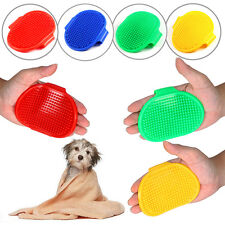 New Oval Cat Dog Pet Soft Cleaning Massage Rubber Grooming Glove Bath Brush Comb