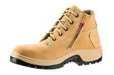 Rossi 789 Peak Lace Up Zip Sided Steel Toe Wide and Deep Fitting Safety Work ...