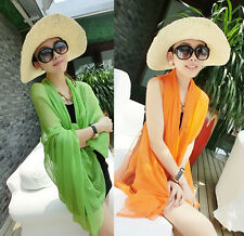 Sarong Bikini Chiffon Cover Up Scarf Women Beach Pareo Wrap Dress Swimwear