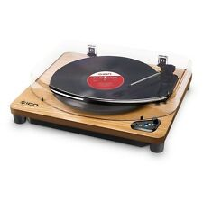 Ion Air LP Wood Bluetooth Vinyl Turntable with PC and Mac USB LP Conversion