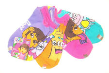 Dora the Explorer Girls 5 Pack of Socks Size Small 4-7.5 and Medium 7.5-3.5 NWT