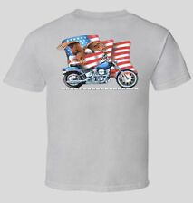 FXST Softail T-Shirt Harley Davidson Motorcycle Eagle USA Flag Biker Back Print