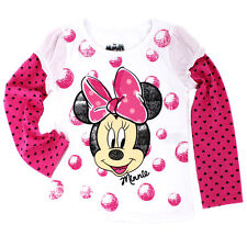 Disney Minnie Mouse Toddler Girls Long Sleeve Tee T-Shirt XYM7791F 2T 3T 4T