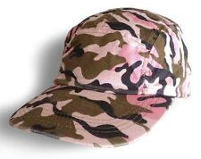 Green, Pink Camo Hat Camouflage Army Military Baseball 100% Cotton vintage Cap