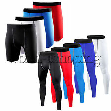 Mens COMPRESSION Base Layer Shorts Pants Leggings Tight Under Skin Sports Gear