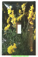 Yellow Flowers Light Switch Outlet Cover Plate