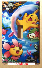 Pokemon Happy Pikachu & Friends Light Switch Power Outlet Cover Plate Home Decor