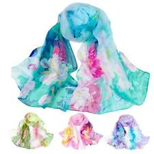 Fashion Scarf Women Chiffon Scarf Long Floral Silk Wrap Shawl Scarves Neck Stole