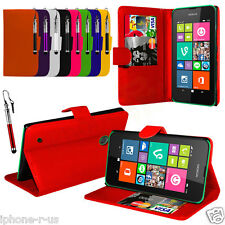 Leather Wallet Flip Mobile Phone Case Cover For Nokia Lumia 530
