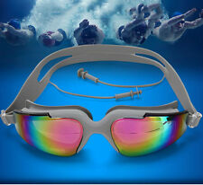 Waterproof UV Protection Anti-fog Swimming Goggles Professional Glasses Earplug