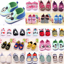 Toddler Infant Boys Girls Slip On Loafers Baby Prewalkers Sole Soft Crib Shoes