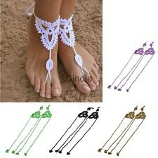 New Crochet Barefoot Sandals Beach Wedding Bridal Anklet Foot Jewelry Bracelet