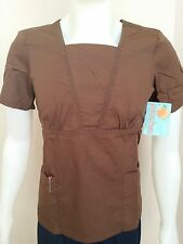 Peaches Uniforms Women's Missy Lace V-Neck Scrub Top - 4822 - Cocoa