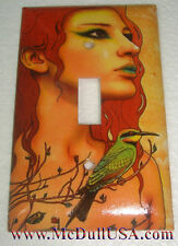 Artist Lady & Bird Toggle Light Switch Duplex Outlet Cover Plate Home Decor