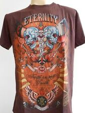 Emperor Eternity Glittering Twin Skull Dagger Tattoo Men T shirt Brown M L